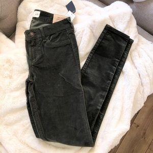 Hollister Super Skinny Velvet Jeans Size 0 / 24